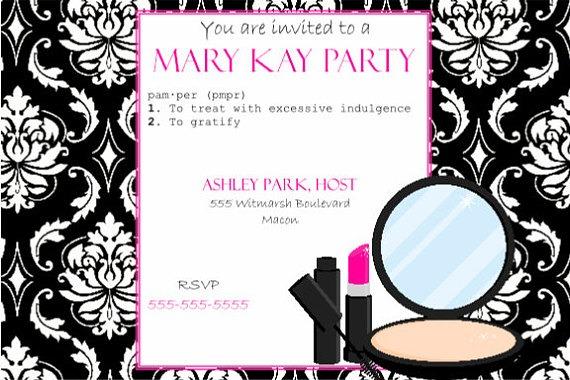 Invitation Template  Mary Kay Invite Templates
