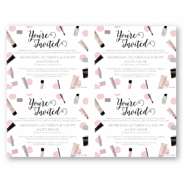 Mary Kay Party Invitation Wording Images Beautiful Skin Care Party