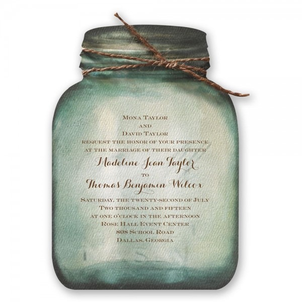 Wedding Invitations Mason Jar: Mason Jar Wedding Invitation Kits