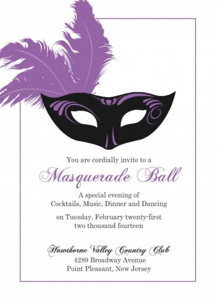 Eeabbabbadeebba Luxury Masquerade Invitations Template