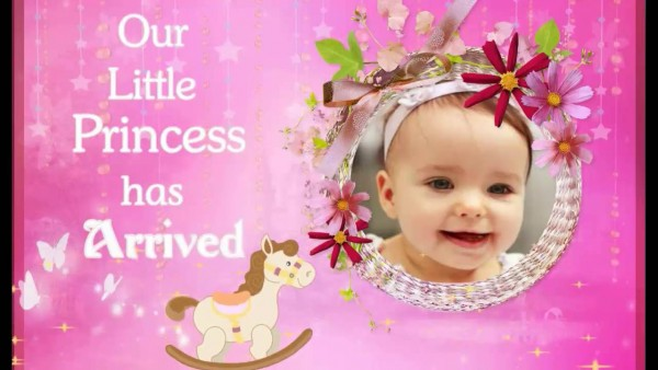 Cradle   Naming Ceremony Invitation For Baby Girl