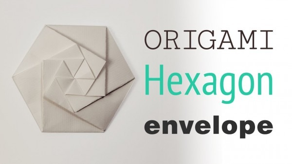 Origami Hexagonal Envelope   Pouch Tutorial ⬢ Diy ⬢