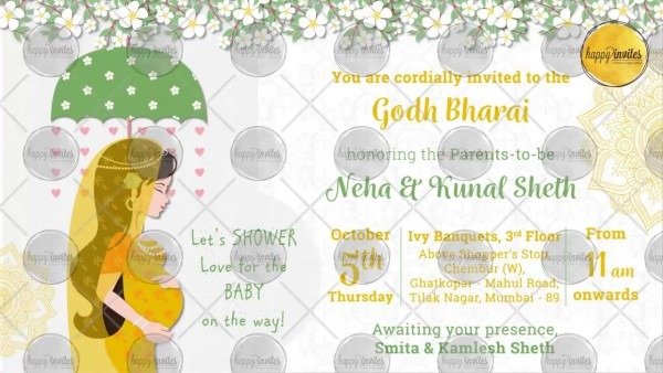 Indian Baby Shower Invitation Party
