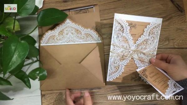 Diy Wedding Invitations Card  Kraft Paper Invitation