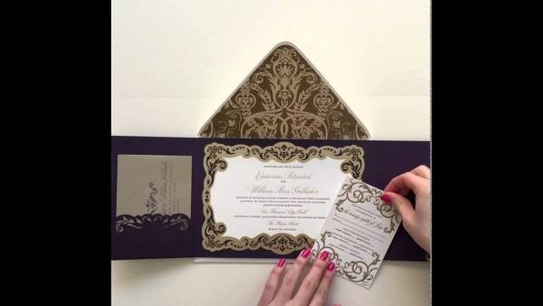 Luxury Gatefold Wedding Invitation By Ceci New York