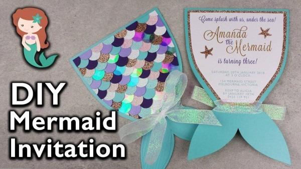 Amazing Diy Mermaid Tail Invitation