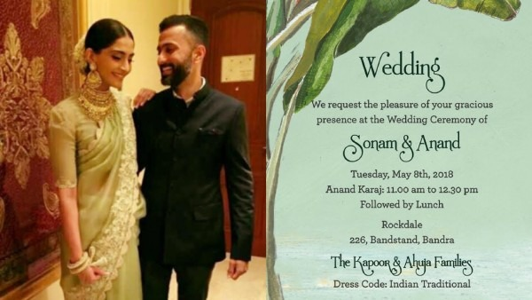 5 Innovative Wedding Invitation Cards Of Bollywood Celebrities