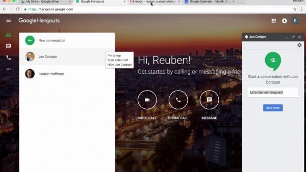 Google Hangouts  Invite Someone