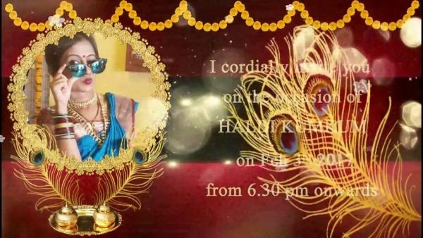Haldhi Kumkum Invitation