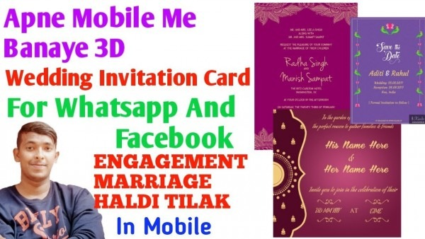 How To Make Wedding Invitation Card For Whatsapp In Mobile 2018