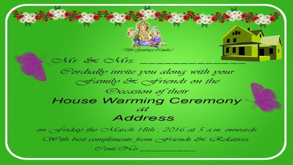 How To Design A House Warming Invitation Card In Photoshop (in