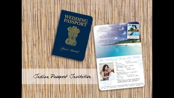 Passport Invitations, Airline Tickets And Luggage Tag Save The