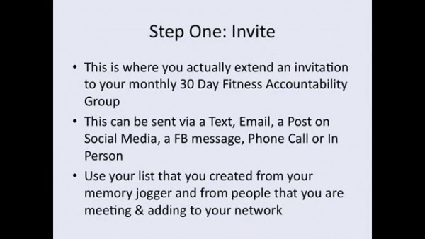 The 5 Step Invite Process Training Video By Allison Tibbs