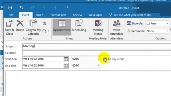 How To Send A Meeting Request In Outlook