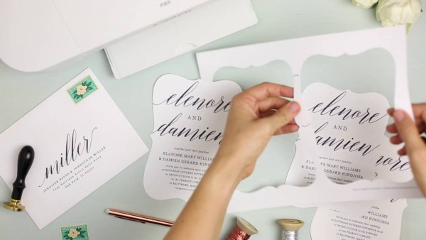 How To Print Your Own Wedding Invitations At Home With Everly Card
