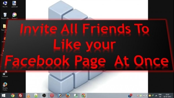 How To Invite All Friends To Like A Page On Facebook At Once 2016