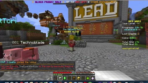How To Invite Your Friends To A Party In Hypixel