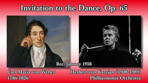 Weber  Invitation To The Dance, Karajan & The Phil (1958