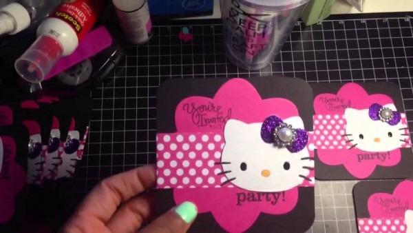 Full Video Of Hello Kitty Birthday Invitations For Cortlyn