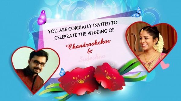 E Card Wedding Invitation With Picture (whatsapp Friendly)