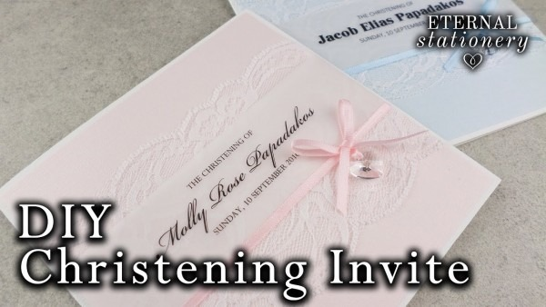 Do It Yourself Baptism Invitations