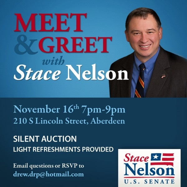 Meet And Greet With Stace Nelson In Aberdeen On Nov 16