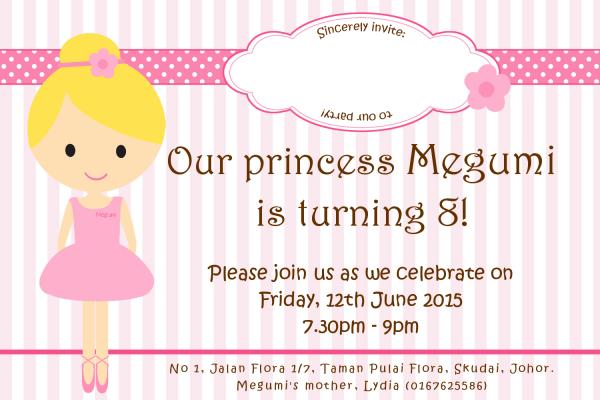 Megumi Birthday's Invitation Card – Dr Koh