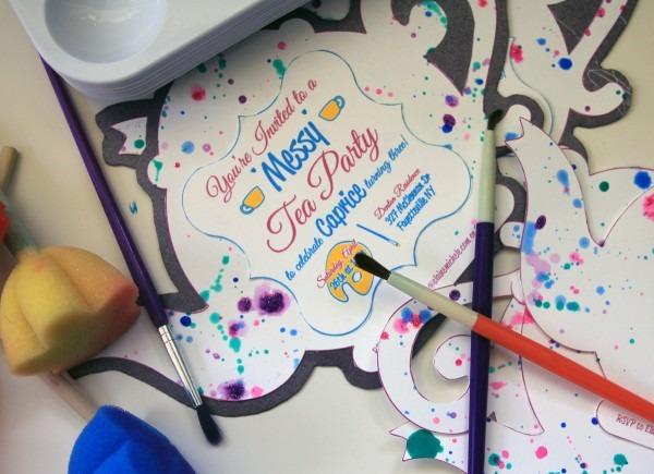 Messy Tea Party Birthday Invitation    Print