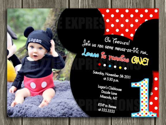 Mickey Amazing Mickey Mouse Personalized Birthday Invitations