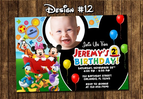 Il Xn Tdy Trend Mickey Mouse Personalized Birthday Invitations