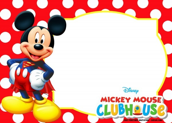 Ecfffcbabdedbc Fabulous Mickey Mouse Invitation Template Free