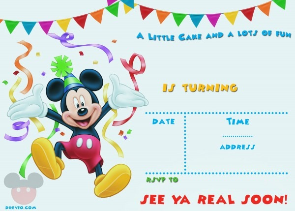 Mickey Mouse Invitation Template Free Epic With Mickey Mouse