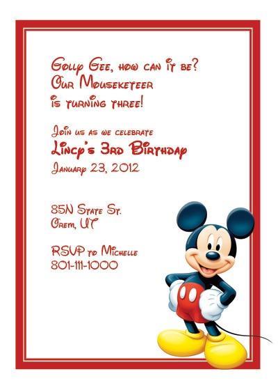 Mickey Simple Elegant Free Printable Mickey Mouse Birthday
