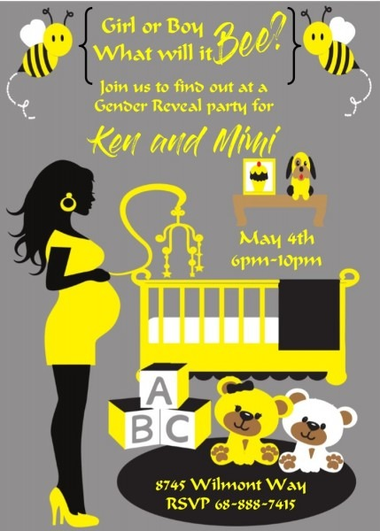 African American Baby Shower Invitations New Selections Winter 2018