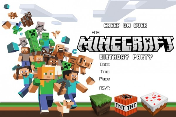 Minecraft Birthday Invitation And Get Inspiration To Create The