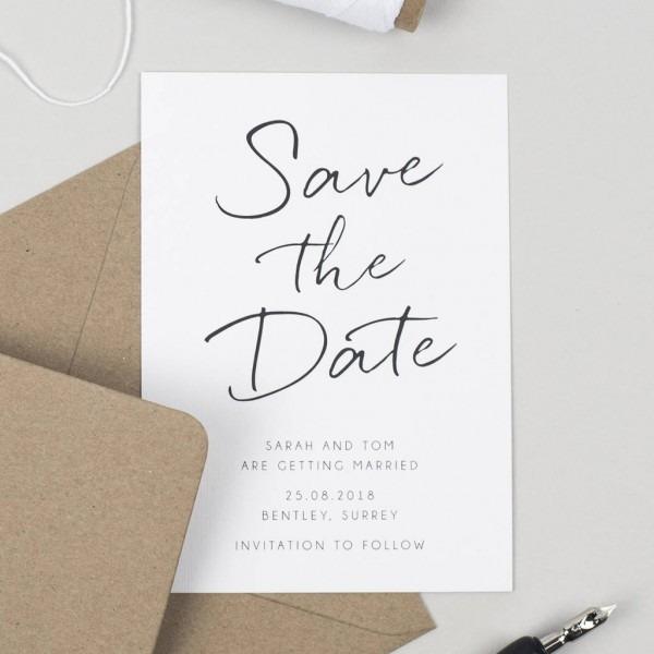Mini Save The Date Card Pear Paper Notonthehighstreet Original