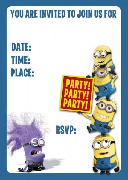 Minion Birthday Invites Popular Minion Birthday Invitations