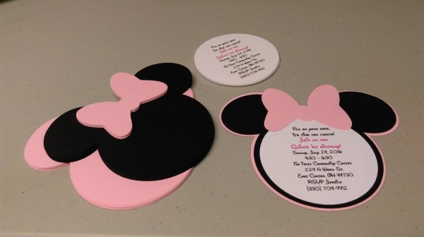 Minnie Mouse Awesome Minnie Mouse Birthday Invitations Diy