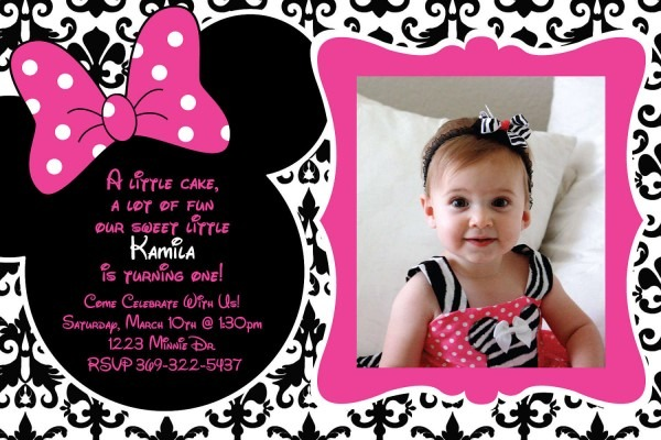 Minnie Mouse Birthday Invitations Personalized Sansalvaje And Get