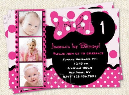 Minnie Mouse Party Online Invitation Cute Minnie Mouse Birthday