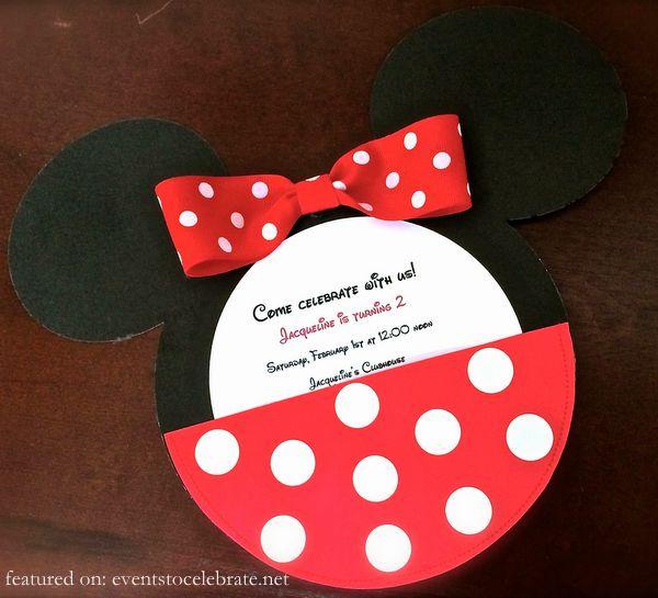 Minnie Mouse Birthday Invitations Diy Cool Minnie Mouse Birthday