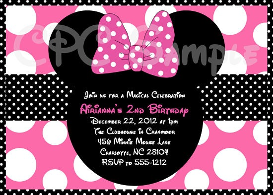Minnie Mouse Personalized Birthday Invitations Perfect With Minnie