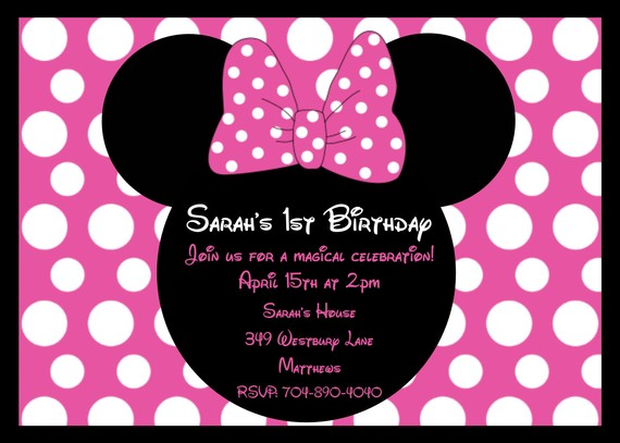 Minnie Mouse Personalized Birthday Invitations Superb With Minnie