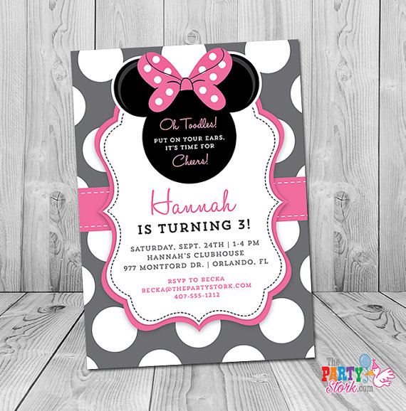 Minnie Mouse Rd Birthday Awesome Minnie Mouse Birthday Invites