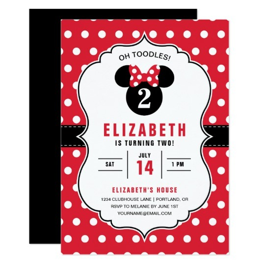 Minnie Mouse Red Amazing Minnie Birthday Invitations