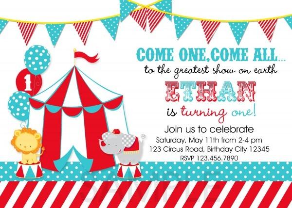 Mixbook Birthday Invite Epic Circus Themed Birthday Invites