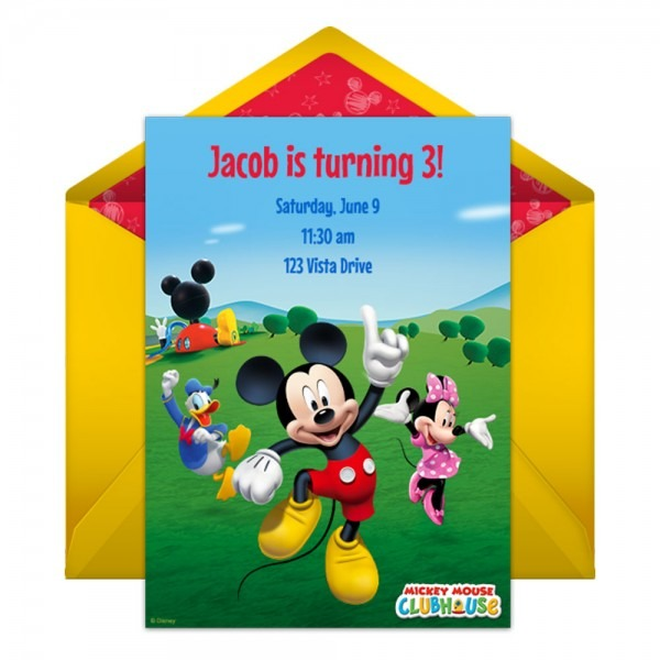 Mickey Mouse Clubhouse Party Online Invitation