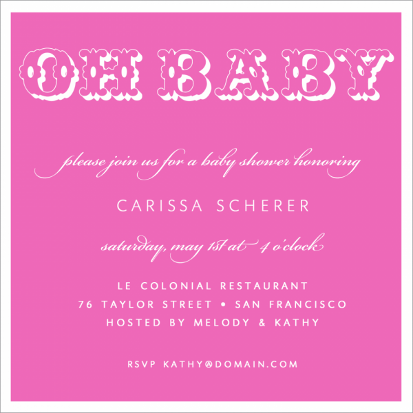 Baby Girl Shower Invitations & Party Invitations For Baby Girl