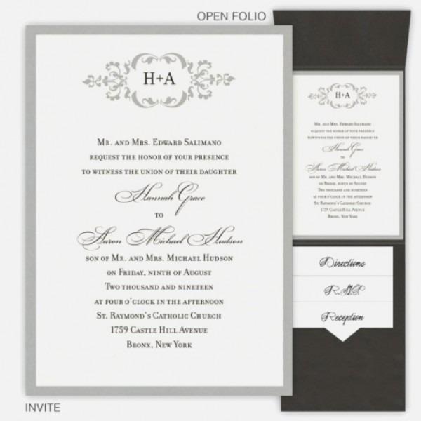 Monogram Wedding Invitations New Monogram Wedding Invitations The