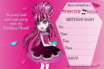 Monster High Party Invitations Monster High Party Invitations Of